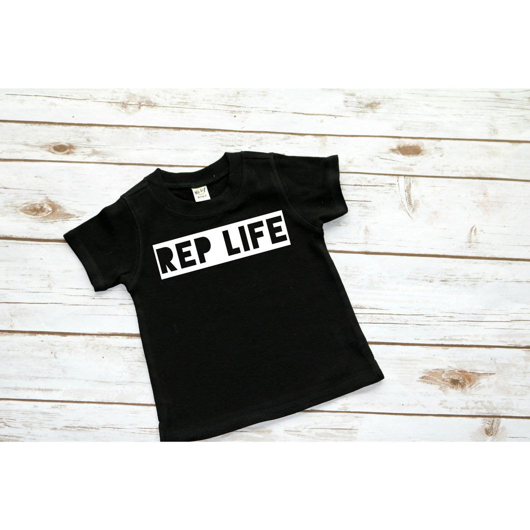 Black shirt for brand reps. Shirt says rep life. Purchase from Mattie2Mase.com