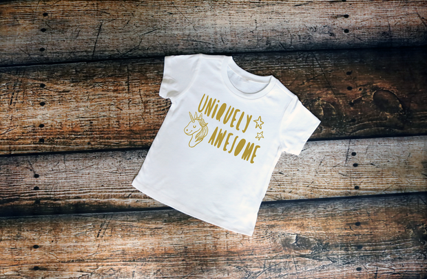 Uniquely Awesome Unicorn Tee - Mattie and Mase