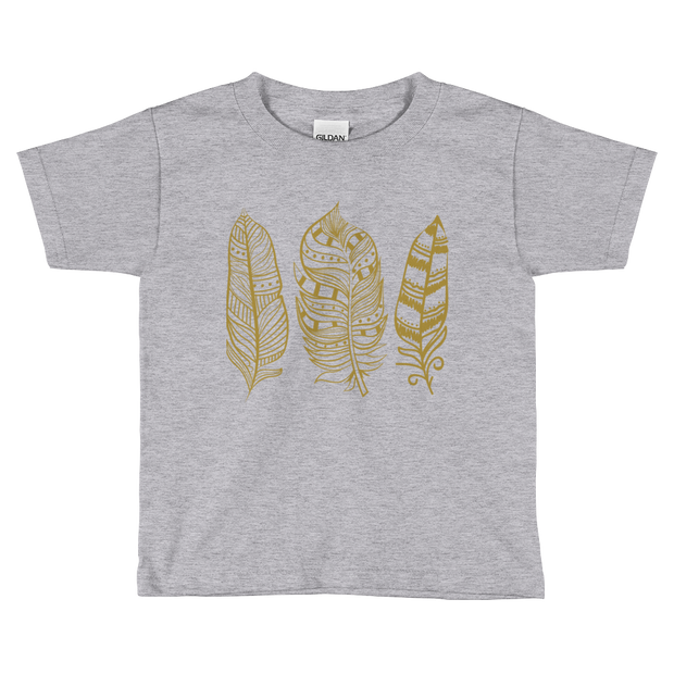 Boho Feather Tee- Youth - Mattie and Mase