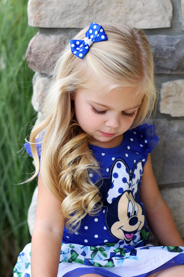 Hand Tied Bows Baby Hair Bows Pigtail Clips Toddler Hair Bows Pigtail Hair Bows Baby Bows Pigtail Bows Navy Gingham Pigtail Bows