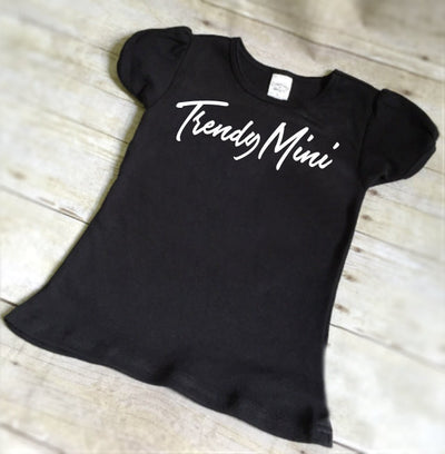 Trendy Mini Tee, Hipster Shirt, Shirts with Sayings, Cute Shirts for Toddlers, Toddler Girls Tops, Monochromatic tees, Cool Shirts for Kids - Mattie and Mase