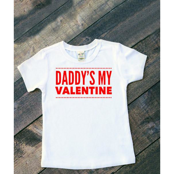 Daddy's or Mommy's My Valentine Shirt Valentine's Day Shirts for Kids - Mattie and Mase