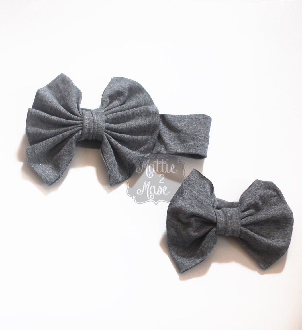 Messy Bow Headbands - Mattie and Mase