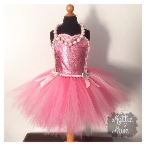 Pink Glitter Tutu Dress for Birthday - Mattie and Mase