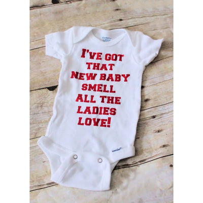 New Baby Smell Bodysuit - Mattie and Mase