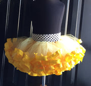 Yellow Ribbon Trimmed Tutu - Mattie and Mase