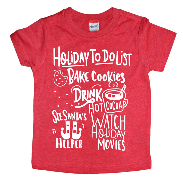 Holiday To Do List Kids Tee