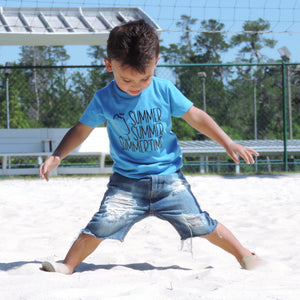 Summertime Tee For Kids - Mattie and Mase