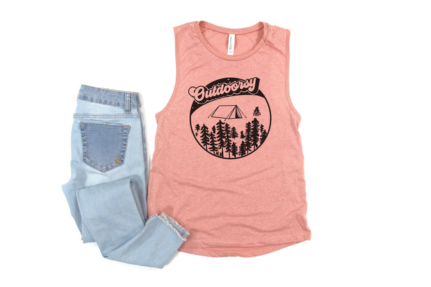 Outdoorsy Muscle Tank