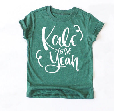 Kale to the Yeah Kids Tee - Mattie and Mase