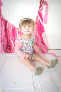 Champange Glitter Bow Headband - Mattie and Mase