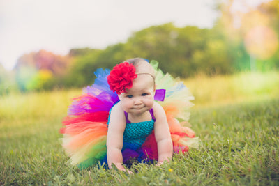 Rainbow Tutu Dress with Matching Headband - Mattie and Mase
