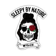 Sleepy by Nature Skull Vinyl Sticker