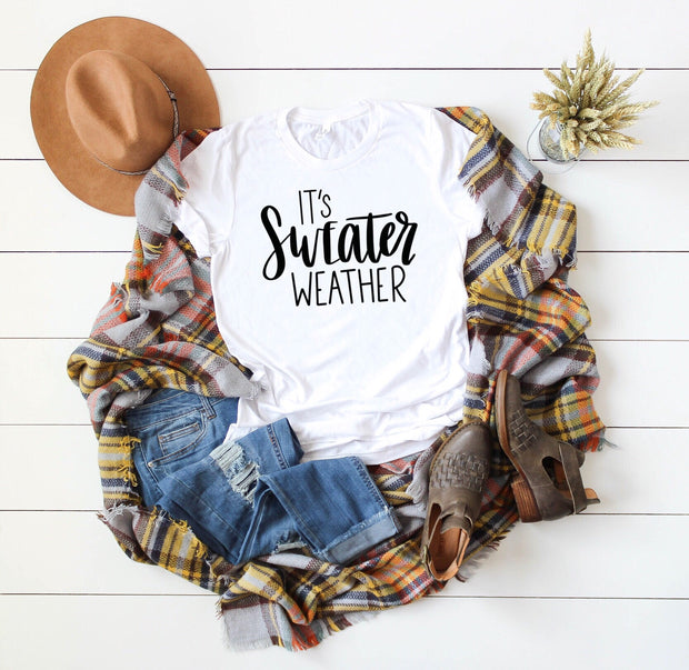 It's Sweater Weather Unisex Tee - Mattie and Mase