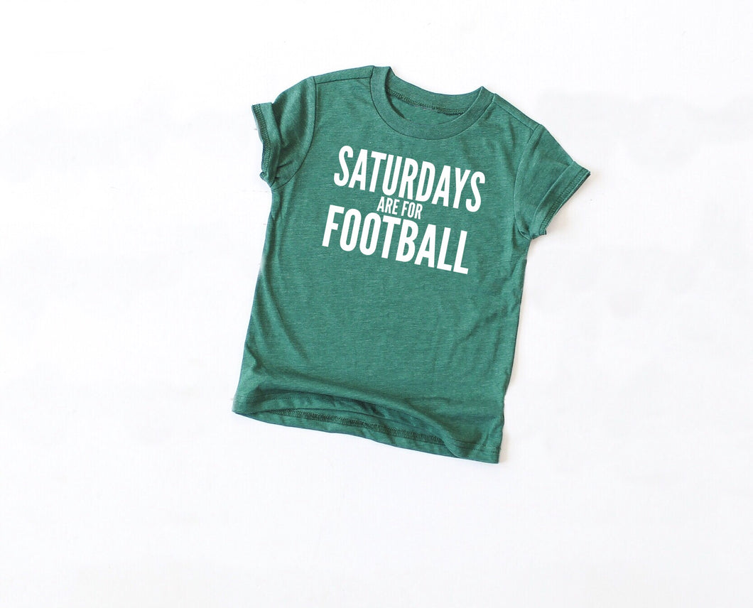 Saturdays Are For Football Youth Tee - Mattie and Mase