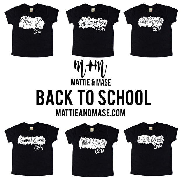 Fourth Grade Crew Kids Tee