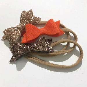 Fall Mini Bow Set - Mattie and Mase
