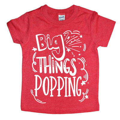 Big Things Popping Kids Tee - Mattie and Mase