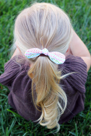 Mini Knotted Hair Tie- Hearts - Mattie and Mase