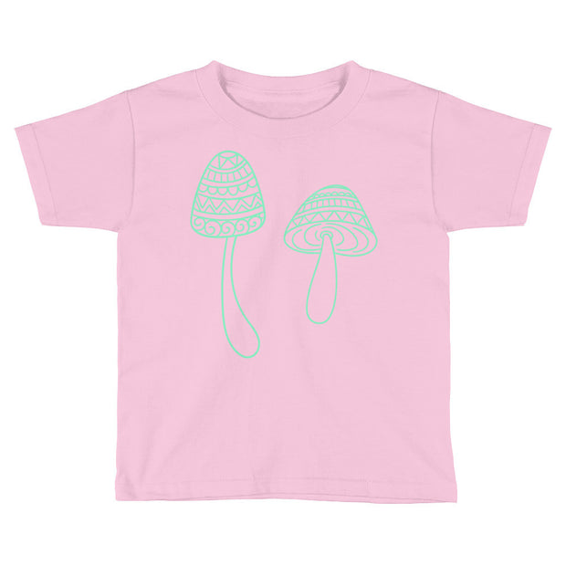 Boho Mushrooms Kids Short Sleeve T-Shirt - Mattie and Mase