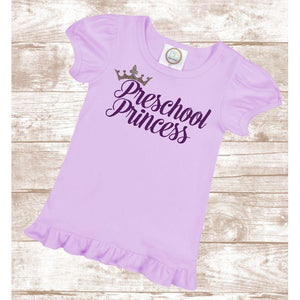 Preschool Princess Back to School Tee - Mattie and Mase