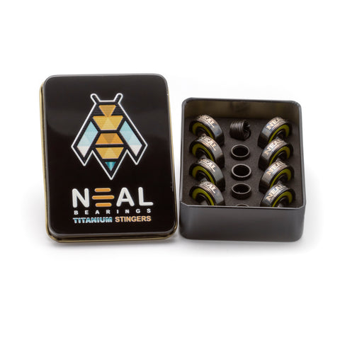 NEAL - Titanium Stingers - NEAL BEARINGS,  - Best Skateboard Bearings, NEAL BEARINGS - NEAL BEARINGS, NEAL BEARINGS - NEALBEARINGS.com