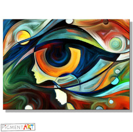 Multi Coloured Abstract Modern Canvas Art - canvas wall art prints uk