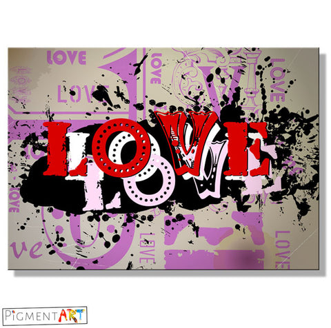 Print Ink Love - LOV0011 - canvas wall art prints uk