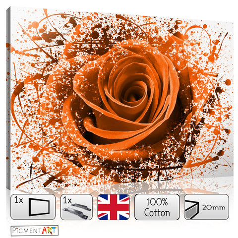 Large Abstract Orange Flower - FLO0089Z