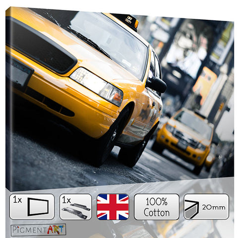 New York Yellow Taxi Cityscape Canvas - canvas wall art prints uk
