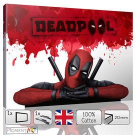 Large Deadpool Film Movie Canvas - canvas wall art prints uk