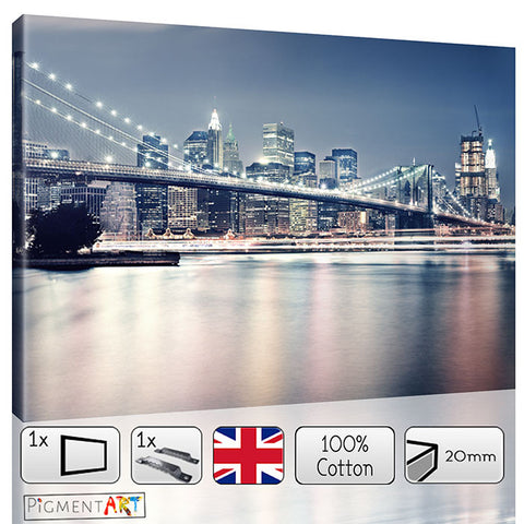 Large Manhattan Cityscape New York Canvas - canvas wall art prints uk