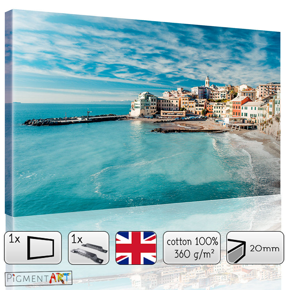 Large Italian Coast Seascape Canvas - canvas wall art prints uk