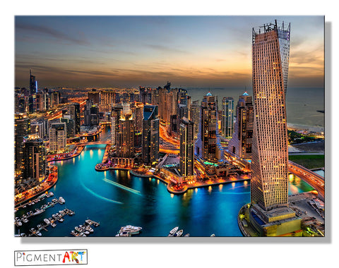 Dubai Cityscape Landscape Canvas - canvas wall art prints uk
