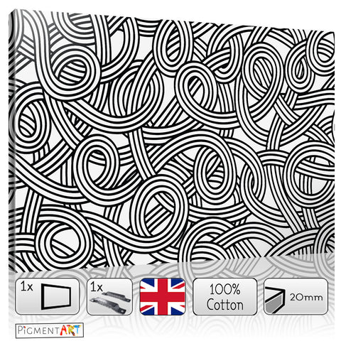 Large Black and White Abstract Canvas - canvas wall art prints uk