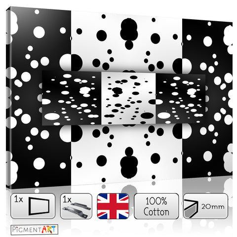 Black and White Paint Drops - BW0021 - canvas wall art prints uk