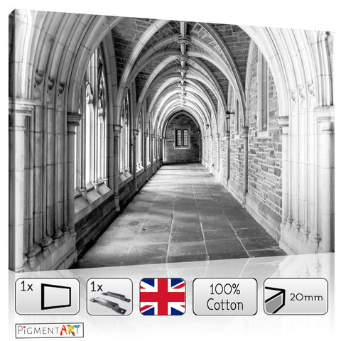 Black and White Vaults - BW0008 - canvas wall art prints uk