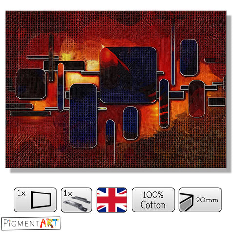 Warm and Cold Geometric Fantasy - ABS0176 - canvas wall art prints uk