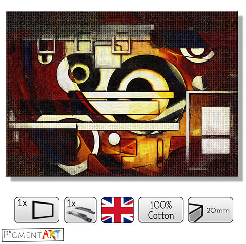 Geometric Fantasy - ABS0175 - canvas wall art prints uk