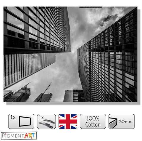 Under the Skyscrapers - BW0006 - canvas wall art prints uk