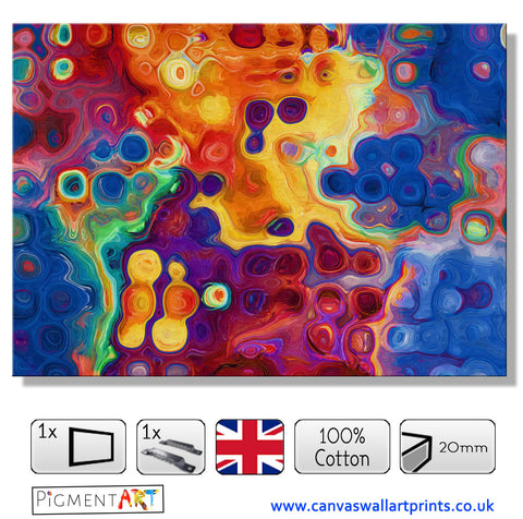 Melting Colours - ABS0171 - canvas wall art prints uk