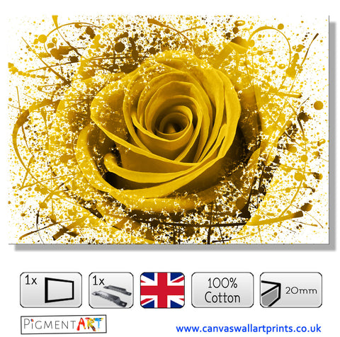 Large Abstract Yellow Flower - FLO0089Y
