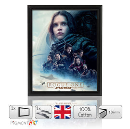 Rogue One Film 2017 - Framed Size A4
