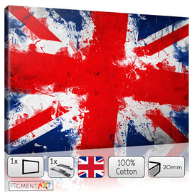 Union Jack British Flag Spotted Canvas - canvas wall art prints uk