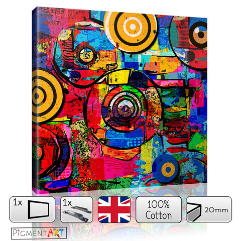 Abstract Modern Multicolour Canvas Art - canvas wall art prints uk