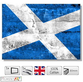 The Saltire Flag of Scotland - FLG0008 - canvas wall art prints uk