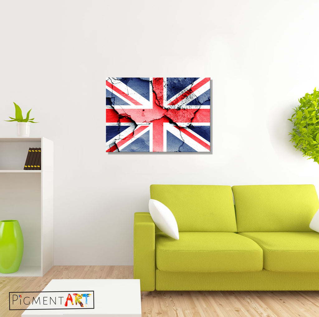 Union Jack British Flag Canvas - canvas wall art prints uk