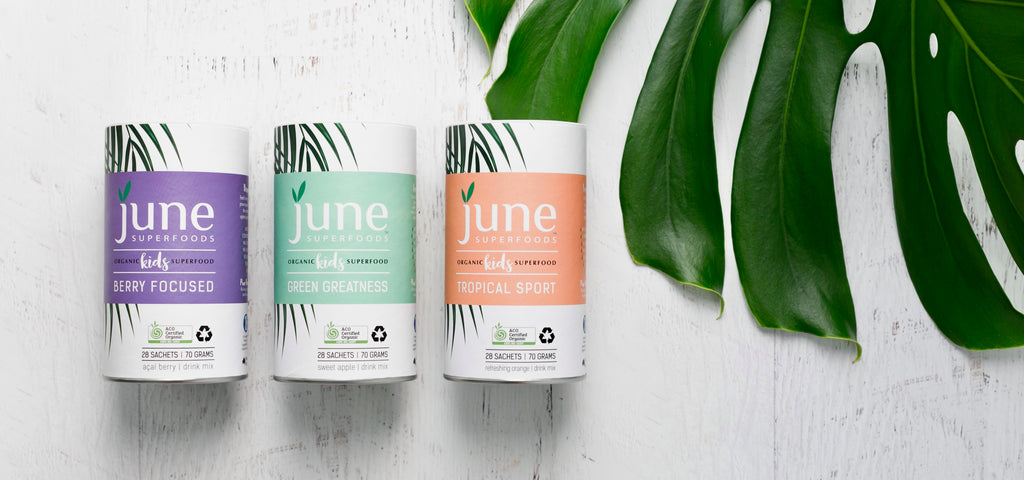 Product shots of June Superfoods