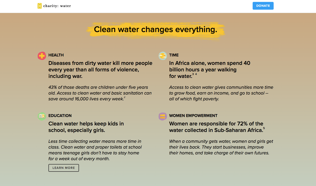 The impact of clean water