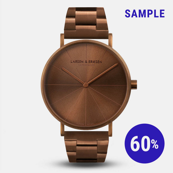 LARSEN&ERIKSEN Absalon all copper watch with metal copper strap